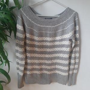 Banana Republic grey striped sweater